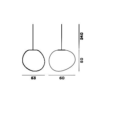 Disegno tecnico della lampada outdoor Gregg Sospensione