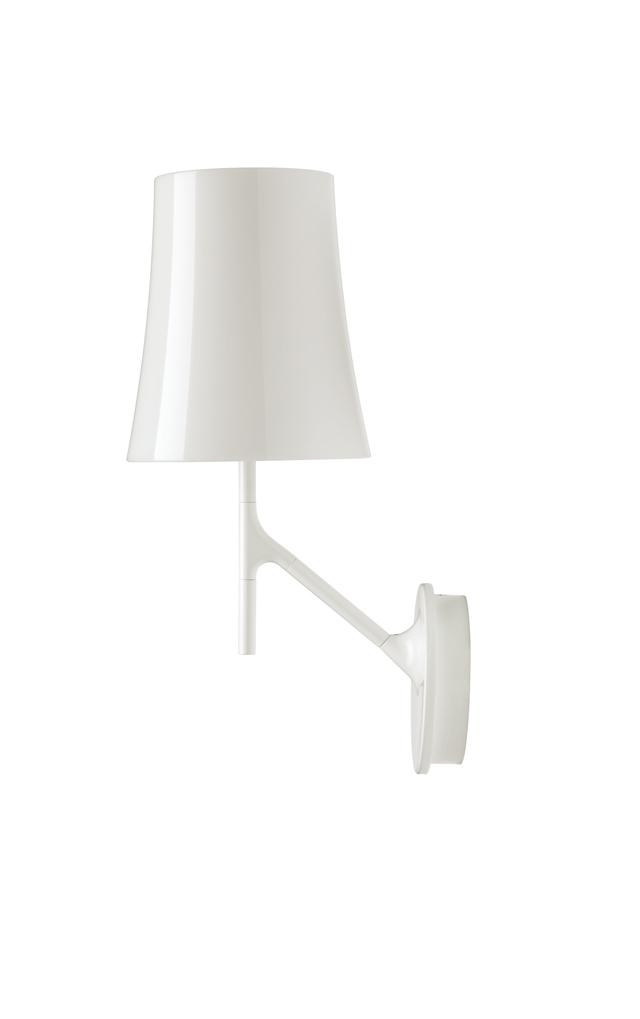 Lampada da parete Birdie in policarbonato, acciaio e metallo verniciati color bianco realizzata da Ludovica+Roberto Palomba per Foscarini