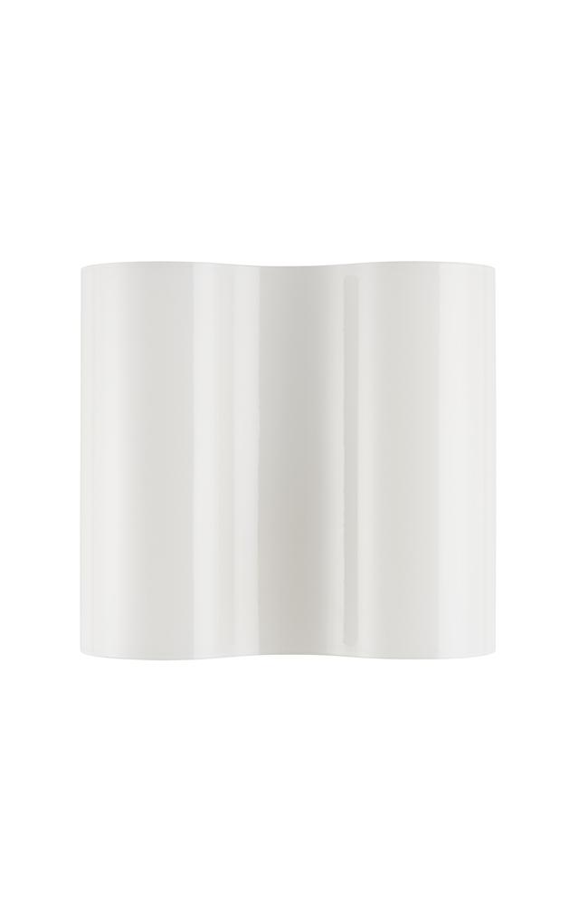 Lampada da parete Double in vetro soffiato e metallo verniciato color bianco creata da Valerio Bottin per Foscarini
