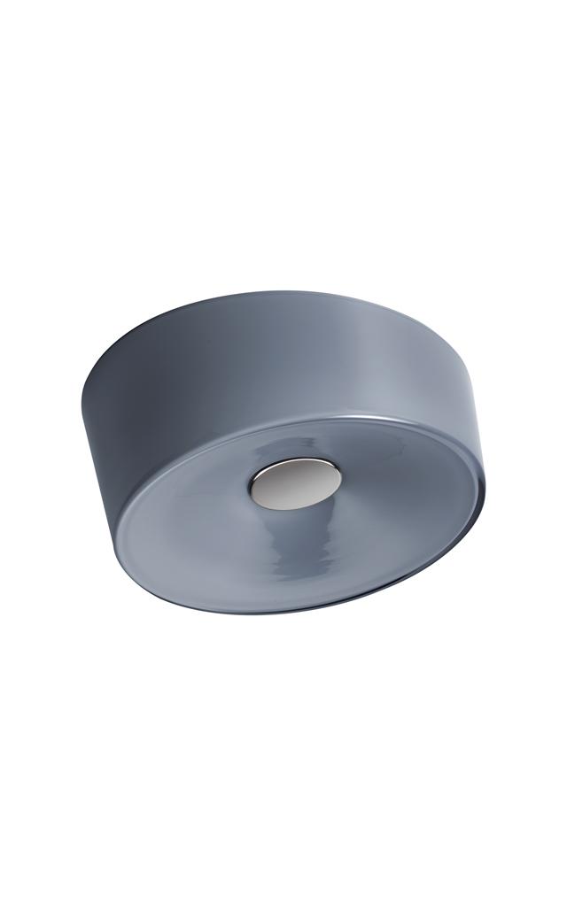 Lampada da parete Lumiere XX in vetro soffiato color grigio e metallo verniciato realizzata da Rodolfo Dordoni per Foscarini