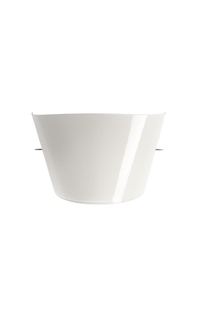 Lampada da parete Tutù in vetro soffiato, alluminio e metallo verniciato color bianco creata da Valerio Bottin per Foscarini