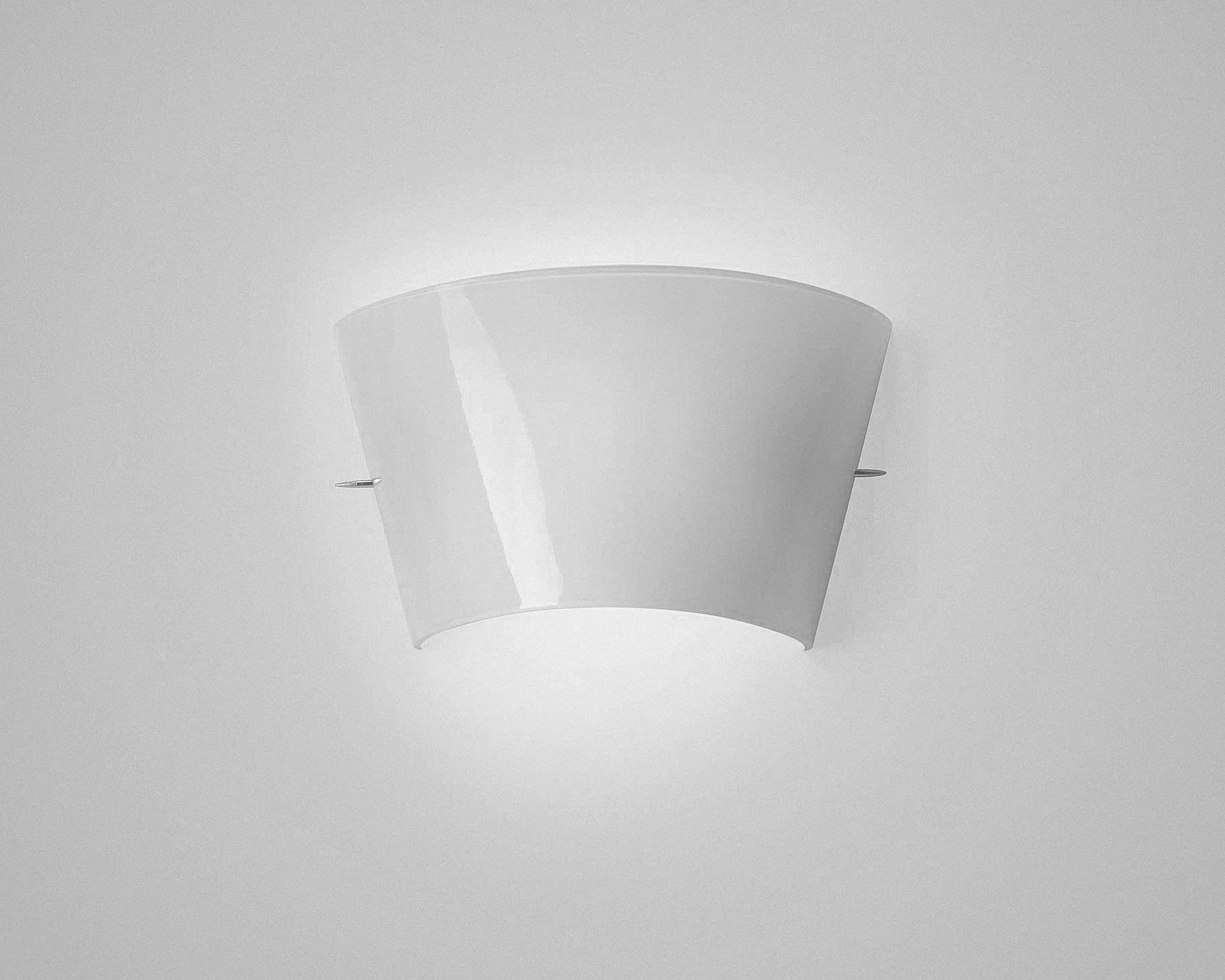 Applique moderna in metacrilato a lampada fluorescente tonda