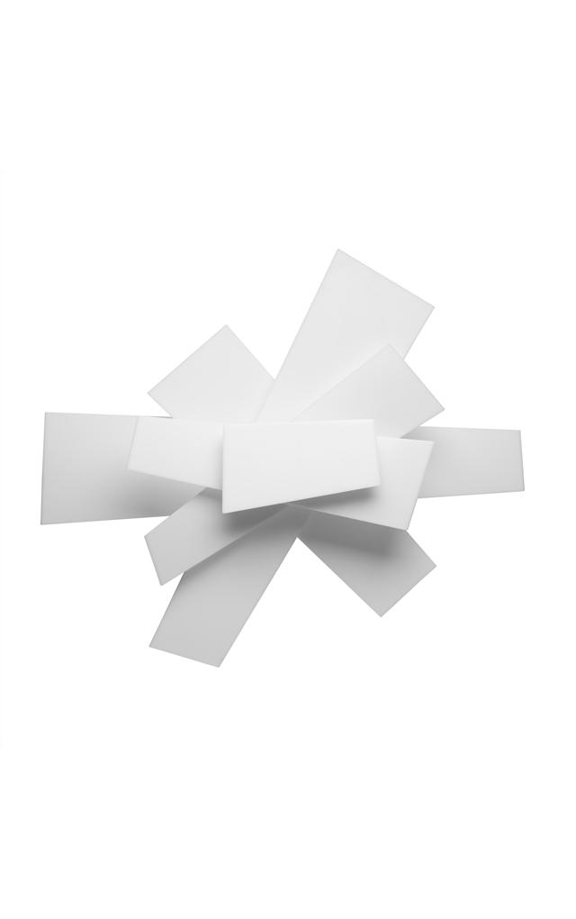 Lampada da soffitto Big Bang in metacrilato e metallo laccato color bianco realizzata da Enrico Franzolini e Vicente Garcia Jimenez per Foscarini
