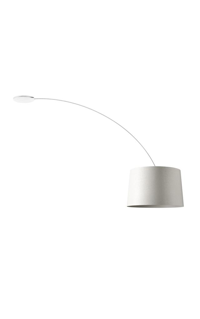 Lampada da soffitto Twiggy in materiale composito su base di fibra di vetro laccato, PMMA, policarbonato, metallo verniciato color bianco realizzata da Marc Sadler per Foscarini