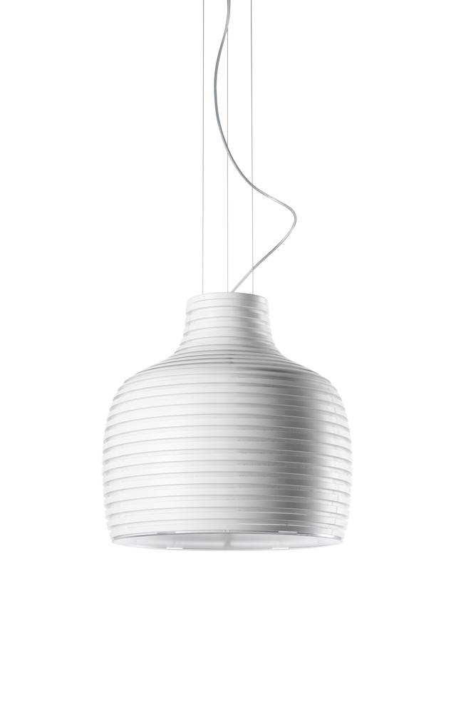 Lampada a sospensione Behive in ABS masterizzato, policarbonato e metallo verniciato creata da Werner Aisslinger per Foscarini
