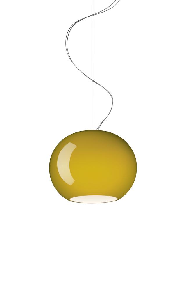 Lampada a sospensione Buds 3 in vetro soffiato color verde bambù realizzata da Rodolfo Dordoni per Foscarini