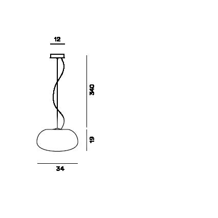 Disegno tecnico della lampada a sospensione Rituals 2