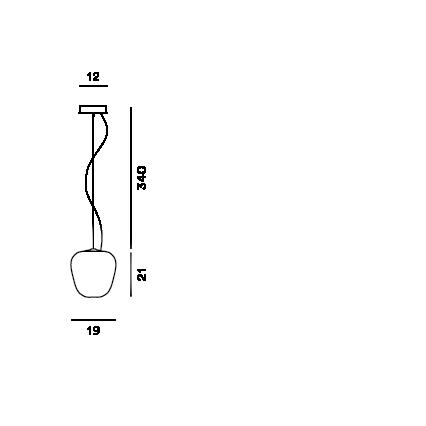 Disegno tecnico della lampada a sospensione Rituals 3