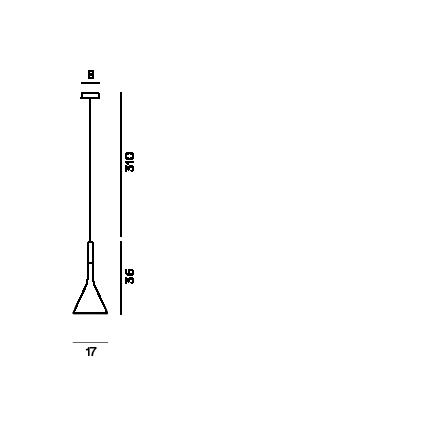 Disegno tecnico della lampada a sospensione Aplomb