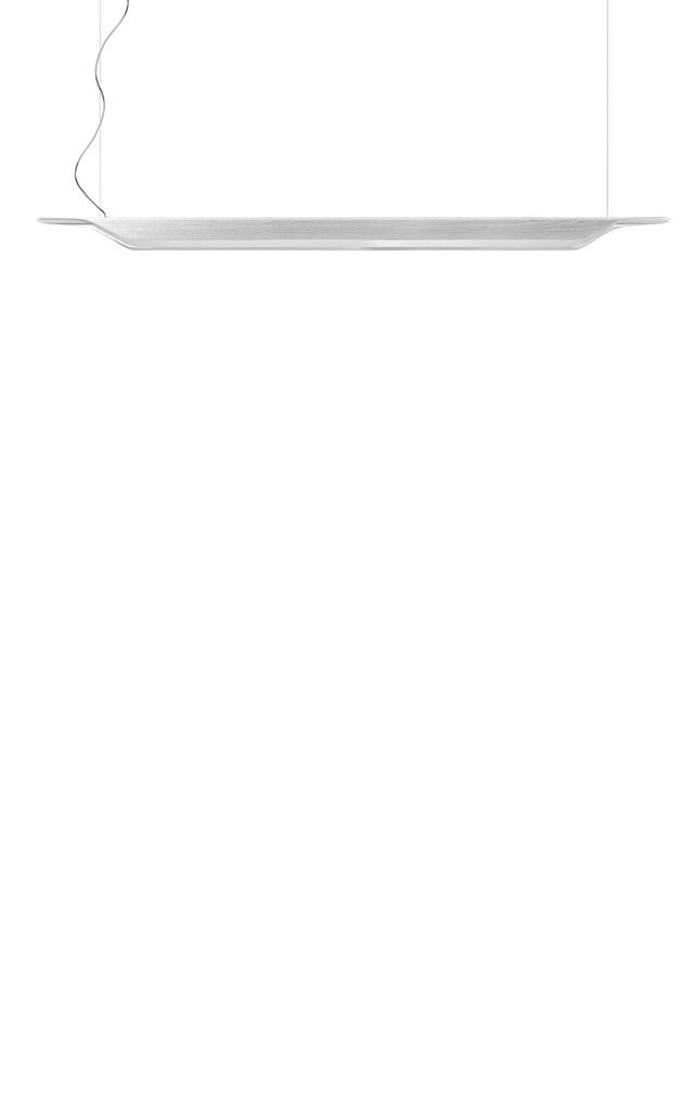 Lampada a sospensione Troag in multistrato di legno curvato e PMMA color bianco
