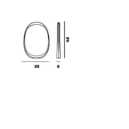 Disegno tecnico della lampada da tavolo Anisha grande LED