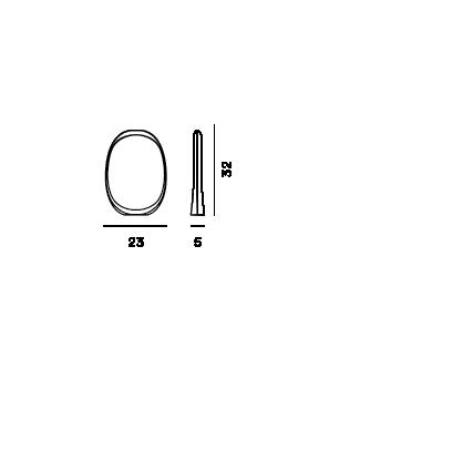 Disegno tecnico della lampada da tavolo Anisha piccola LED