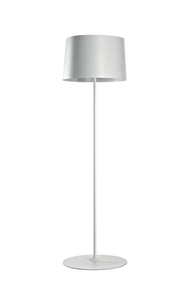 Lampada da terra Twiggy Lettura in materiale composito su base di fibra di vetro laccato, PMMA, policarbonato, metallo verniciato color bianco realizzata da Marc Sadler per Foscarini