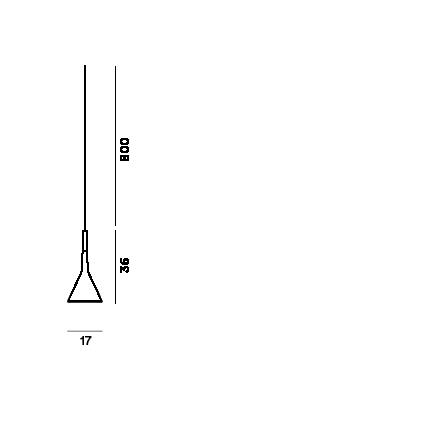 Disegno tecnico della lampada outdoor Aplomb