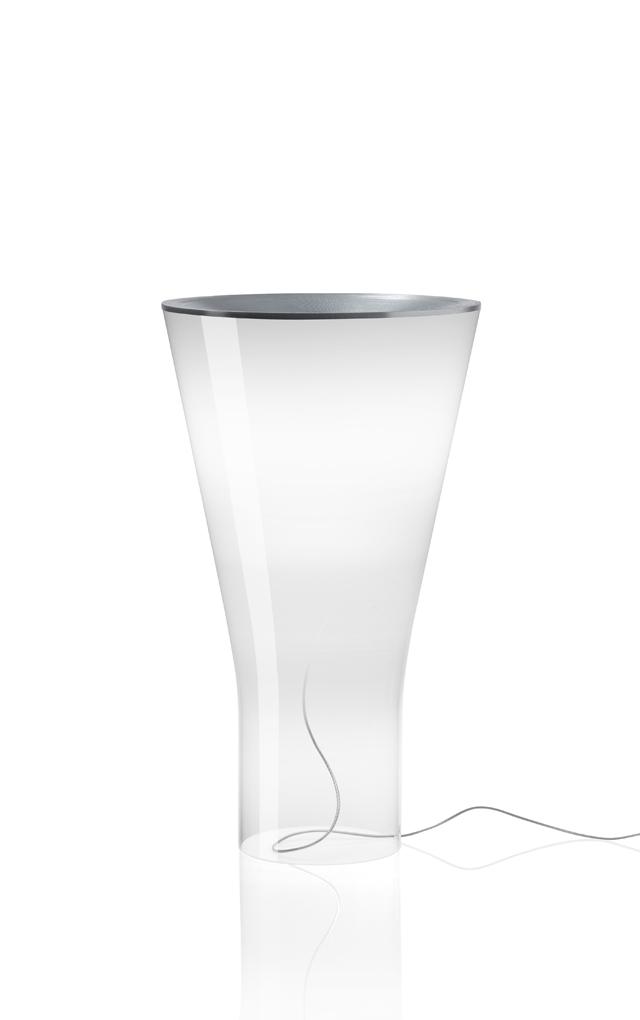 Lampada da tavolo Soffio in vetro soffiato e alluminio realizzata da Ludovica+Roberto Palomba per Foscarini