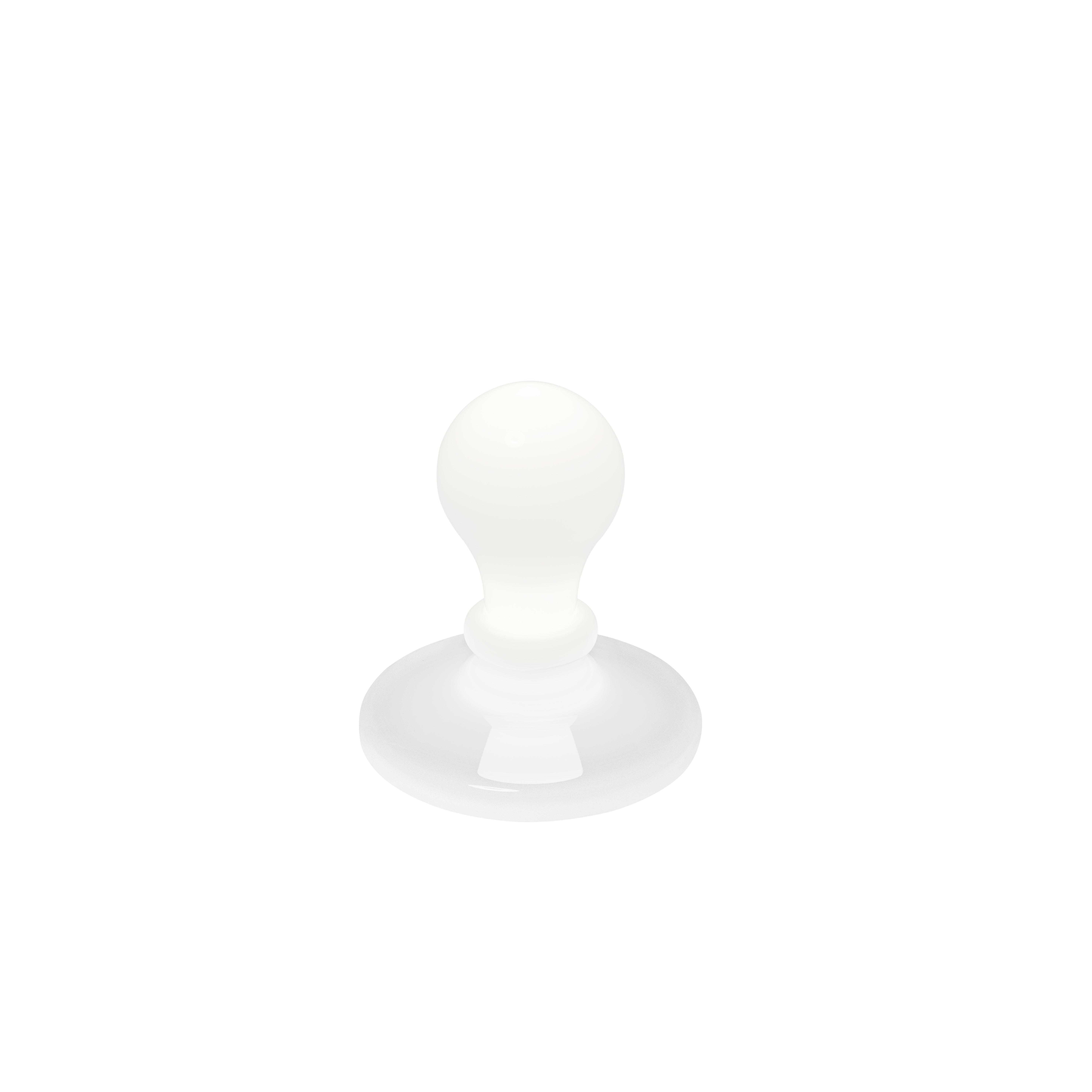 Lampada da tavolo Light Bulb in vetro soffiato e alluminio color bianco