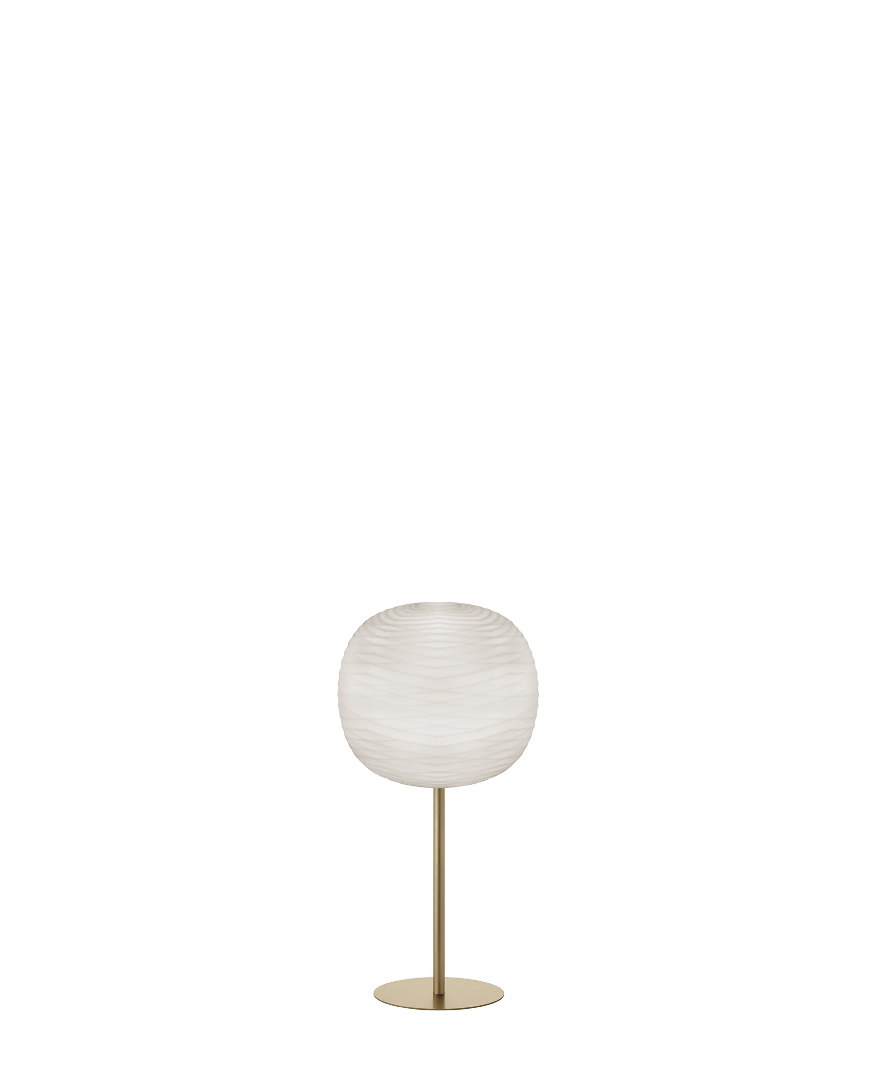Lampada da tavolo Gem Mix&Match in vetro soffiato in rilievo e acidato e metallo verniciato color oro realizzata da Ludovica+Roberto Palomba per Foscarini