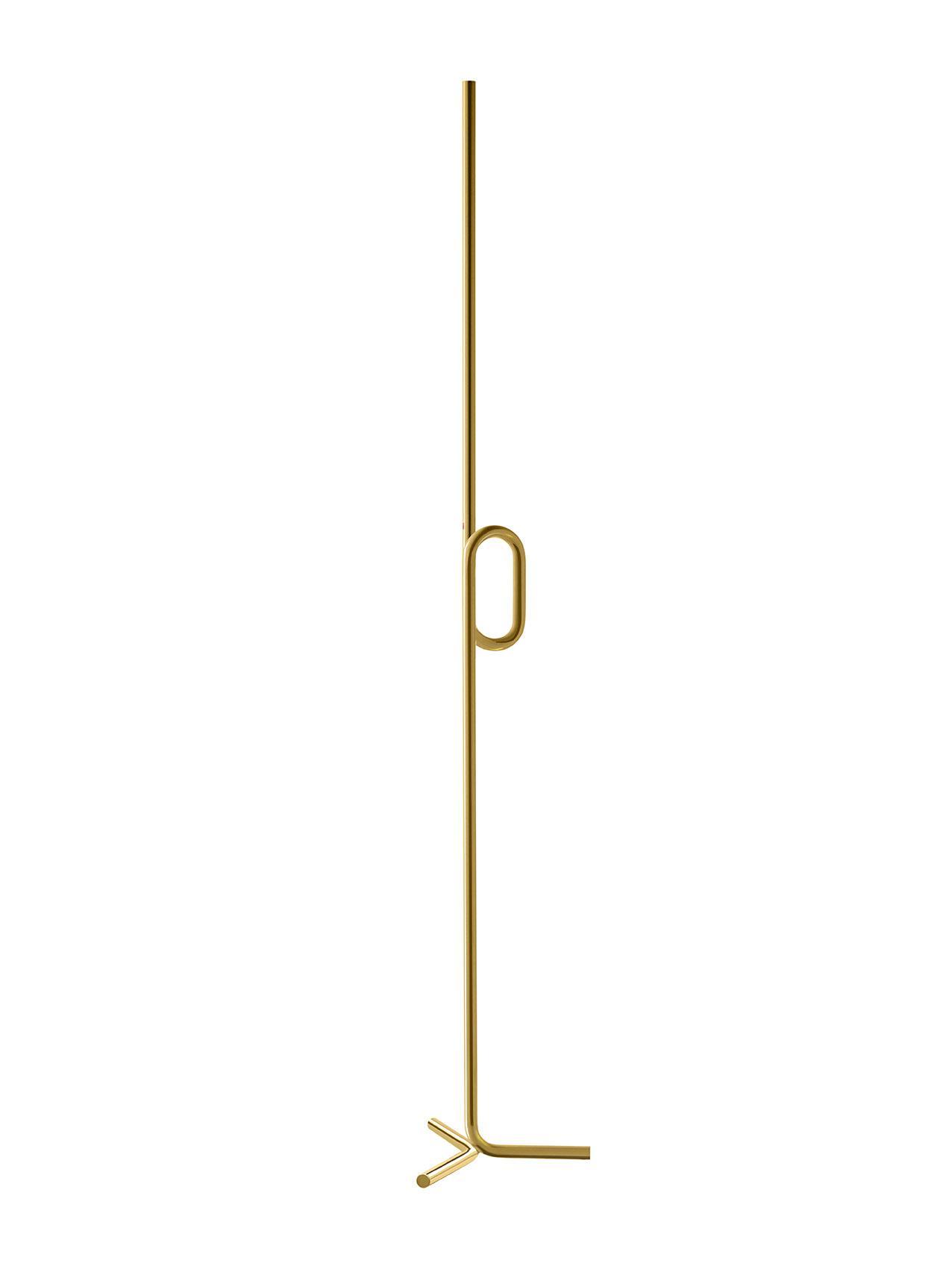 Lampada da terra Tobia in metallo e alluminio verniciato a liquido o dorato color oro